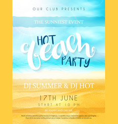 beach party poster with vector image