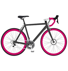 Bicycle black1 01 vector