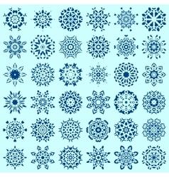 Big set of snowflakes vector image vector image