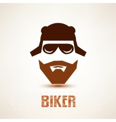 biker or rocker symbol stylized icon vector image
