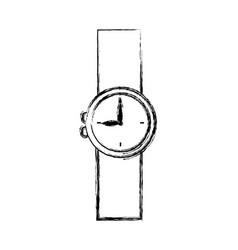 cartoon wrist watch clock hour timer vector image