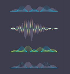 Colored sound waves design vector