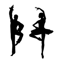 couple ballet dancers vector image vector image