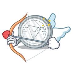 Cupid tron coin character cartoon vector