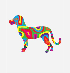 Dog abstract colorfully vector