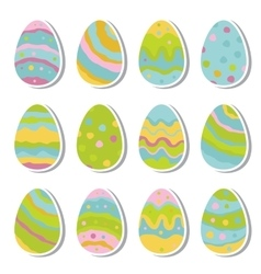 easter eggs icon set in flat style vector image vector image