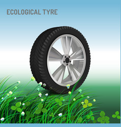 ecological tyre image vector image