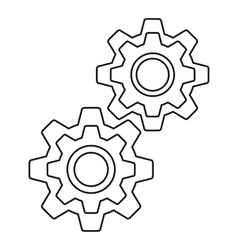 Gear icon outline style vector image
