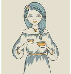Girls astrological sign libra vector