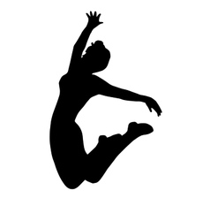 High quality original girl gymnastic doing jump vector image vector image