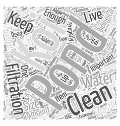 How to keep your pond in good conditionwps word vector