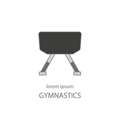 Line style logo with a gymnastics horse vector
