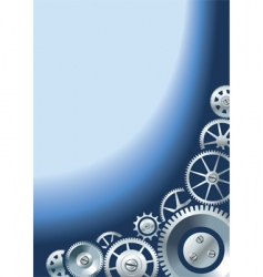 mechanical background with gears vector image
