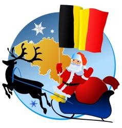 Merry Christmas Belgium vector image