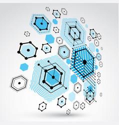 Modular bauhaus 3d background created from vector