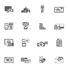 Payment icon set vector