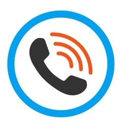 Phone call rounded icon vector