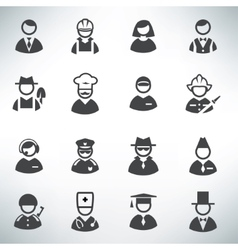 profession icons set vector image vector image