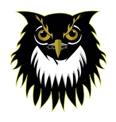 Retro owl logo basketball team vector