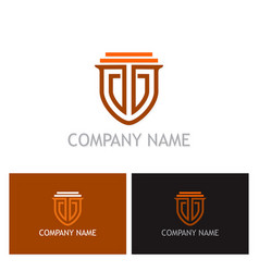 shield guarantee secure logo vector image