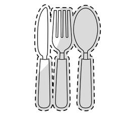 silverware icon image vector image vector image