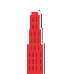 Single tall building icon vector