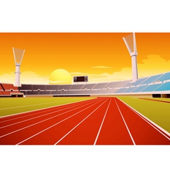 Sports stadium vector image vector image