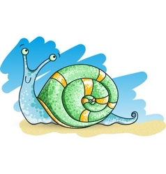 Spotted Snail vector image