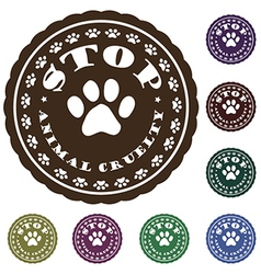 Stop animal cruelty vector