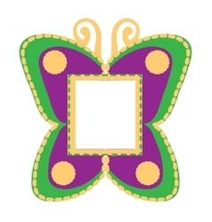Photo frame in the shape of butterflies vector