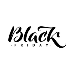 Black friday sale promo abstract calligraphic vector