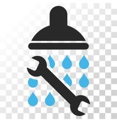 Shower Plumbing Icon vector image