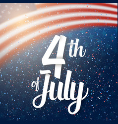 Independence day poster 4th of july usa vector