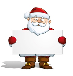 Santa holding a label vector