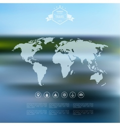 Blurred landscape background travel concept with vector