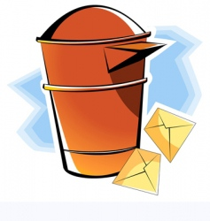 post box vector image