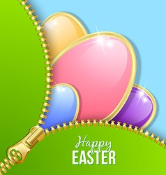 Easter eggs with zipper vector