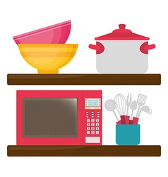 Home kitchen design vector