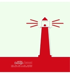 Abstract background with luminous lighthouse vector