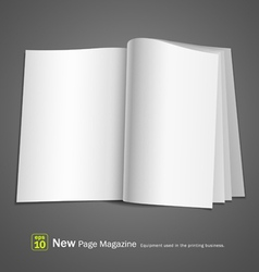 Open white book vector