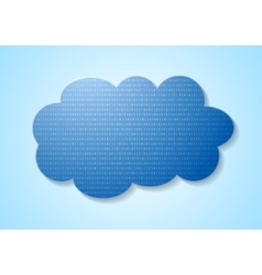 Binary code system and blue cloud vector