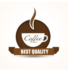 Coffee shop trendy background with coffee cup vector