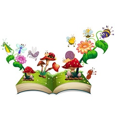 Book of insects in the garden vector image