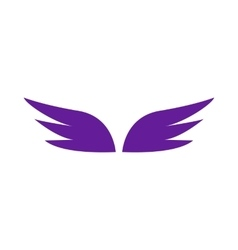 A pair of violet wings icon simple style vector image vector image