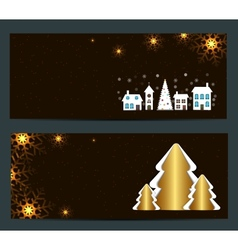 Abstract beauty Christmas and New Year banner vector image
