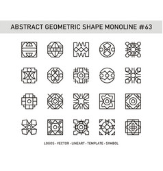 Abstract geometric shape monoline 63 vector