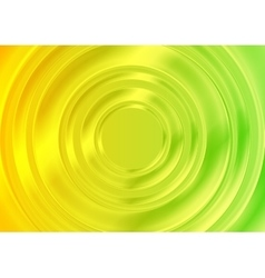 Abstract glossy circles with green yellow gradient vector