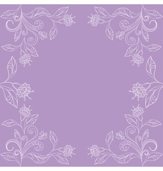 Background with contours of flowers vector image vector image