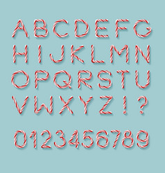 Candy cane font vector