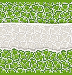 Clover pattern for st patricks day vector